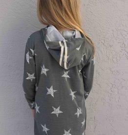 Area Code 407 Junior L/S Hoodie Dress