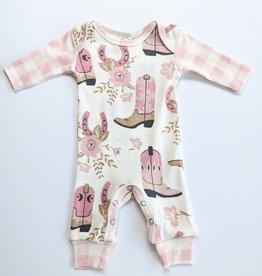 Tesa Baby Baby Girl Long Sleeve Onesie Romper