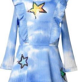 Baby Sara Waffle Knit, L/S Tie Dye Dress