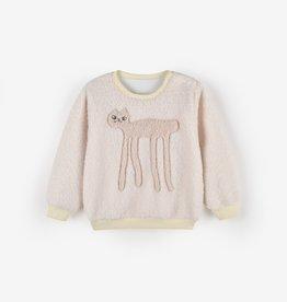 Aimama Faux Shearling Sweatshirt