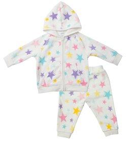 Angel Dear Baby / Toddler Girl Velour Jogger Set