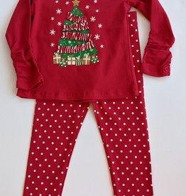 CR Kids Girl Christmas Tree Top w/Ruching