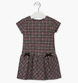 Losan Girl S/S Plaid Dress