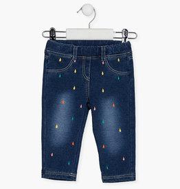Losan Baby / Toddler Dk Blue Dot Denim Jeans