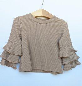 ML Fashions Girl / Junior Tiered Long Sleeve Top