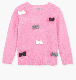 Losan Fluffy Sweater with Scattered Bows