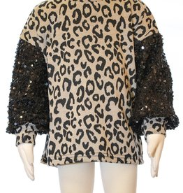 ML Fashions Sequin Sleeve Sweater