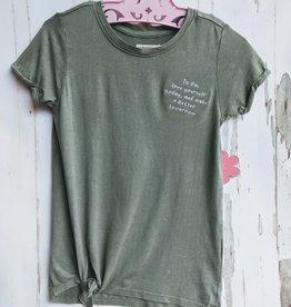 Paper Flower Junior Short sleeve Embroider T-shirt