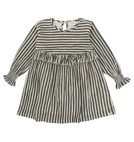 Turtle Dove London Woven Striped L/S Dress