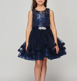 Cinderella Couture Illusion Sequin Lace Tulle Special Occasion Dress