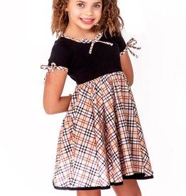 Charlie's Project Girl Berry Hugs Twirl Dress