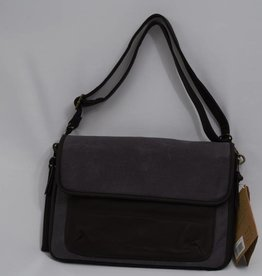 So Young Waxed Charcoal Messenger Sydney Diaper bag