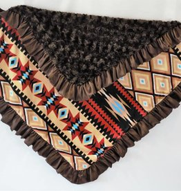 Cuddle couture Aztec with brown plush blanket