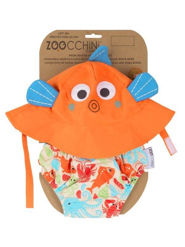 Zoocchini Baby Swim Diaper with Sun Hat - www.jambabykids.com b9904bf6751c
