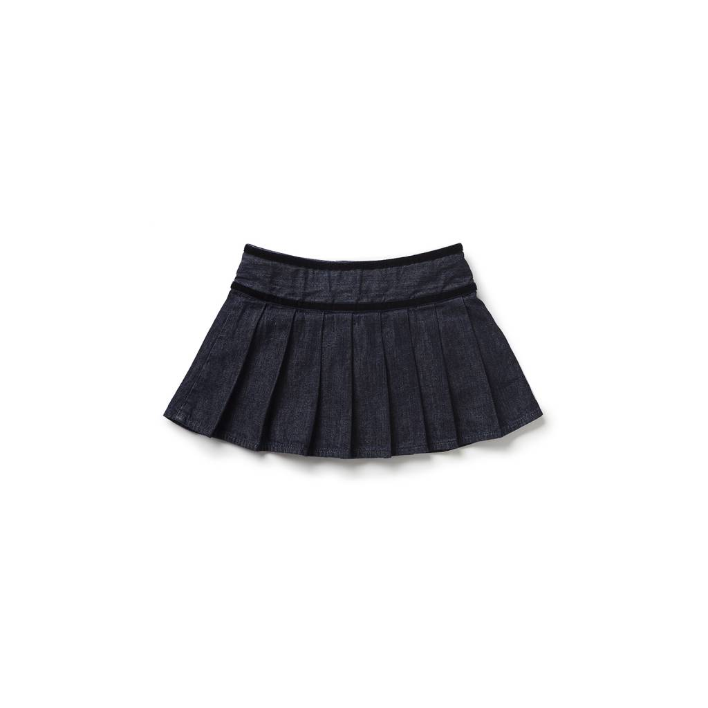 Blue and Blu Caitlyn Pleated Skirt