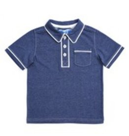 Kapital K Blu Storm Button short sleeve polo