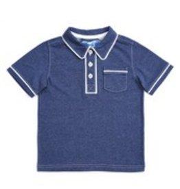 Kapital K Blu Storm Button short sleeve polo