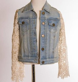 ML Fashions Lace Denim Jacket