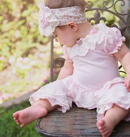 Haute Baby Haute Baby Sweet Pea Pink Ruffled Top and Legging