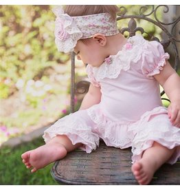 Haute Baby Haute Baby Sweet Pea Pink Ruffled Top and Legging