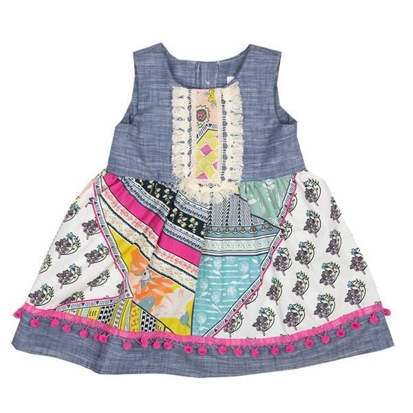 Haute Baby Haute Baby Chelsea Dress, Multi Color
