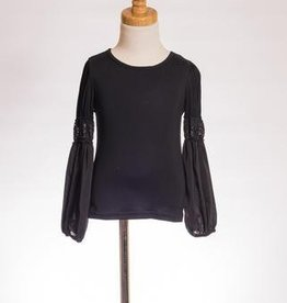 ML Fashions Bubble Sleeve Top