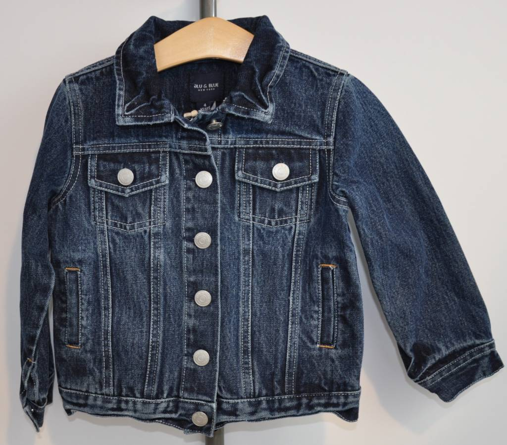 Blue and Blu Boy Distressed Denim Jacket