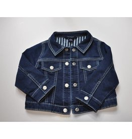 Blue and Blu Knit Denim Jacket
