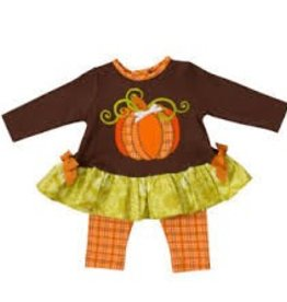 Tunic 2 pc w/Leggings: Pumpkin Applique