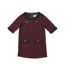 Kapital K Houndstooth Crimson Dress