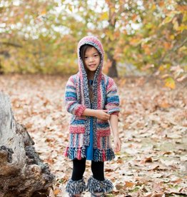 Mimi and Maggie Native Striped Zip Front Hoodie