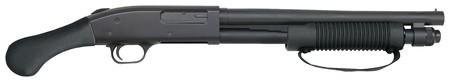 Mossberg MOS Model 590 Shockwave 12 Gauge 3 Inch Chamber 14 Inch Heavy Walled Barrel Shockwave Raptor Pistol Grip Front Bead
