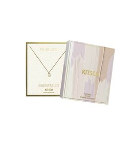 Kitsch Rectangle Tag Engravables Necklace