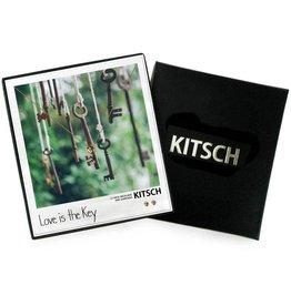 Kitsch Heart Lock Necklace/Earring Set