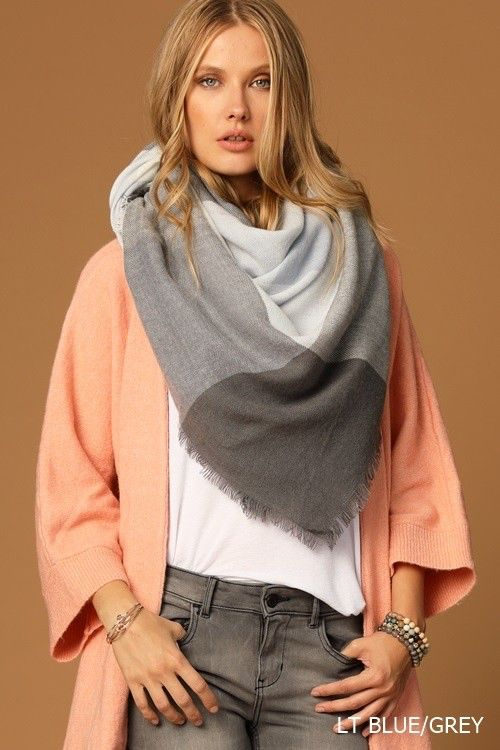 Causal And Fun Multi Color Buffalo Checkered Blanket Scarf Scarf