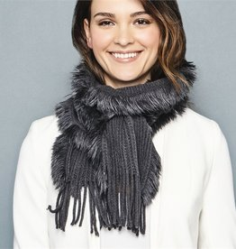 Knit Scarf with Fringe 20240-20