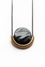 SUN AND MOON NECKLACE IN ONYX