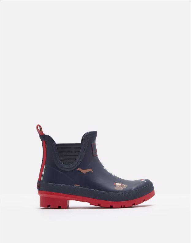 Joules Short Printed Rain Boots