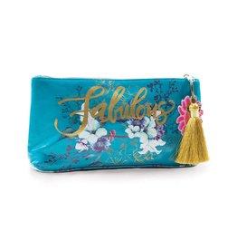 Jewel Flower Small Tassel Pouch