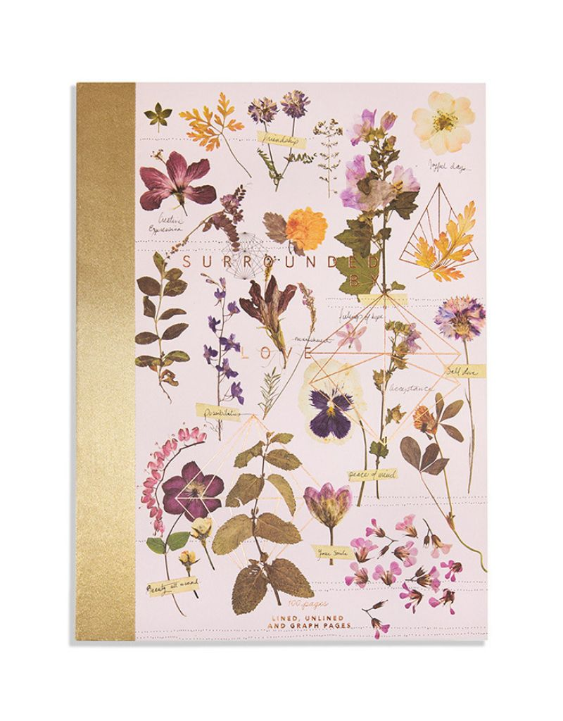 Love Garden Cloth Bound Notebook