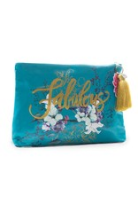 Jewel Flower Large Tassel Pouch