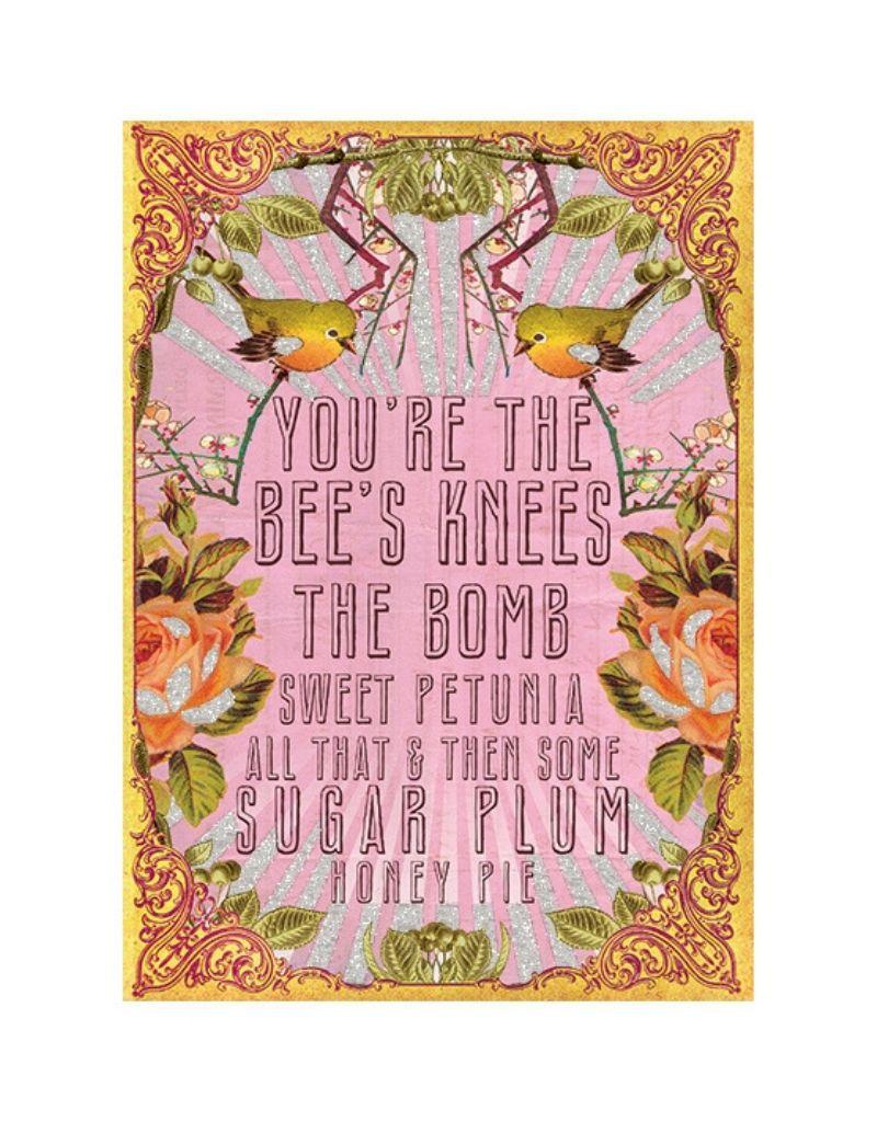 Bee Knee's Card