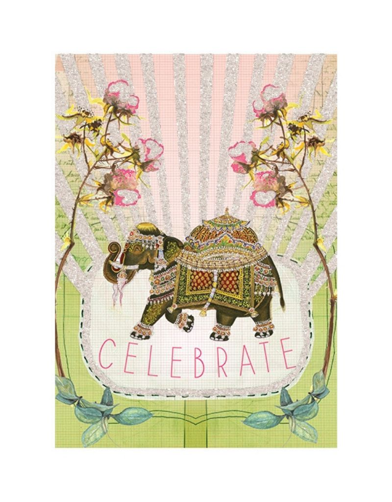 Fancy Elephant Card