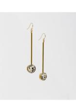 Aberrant Earrings in Dalmatian Jasper