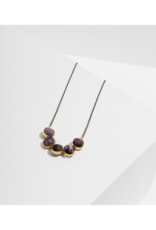 """ALIGNMENT NECKLACE IN AMETHYST 18"""""""