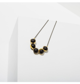 """ALIGNMENT NECKLACE IN ONYX 18"""""""