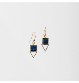 PIQUE EARRINGS IN BLUE LAPIS