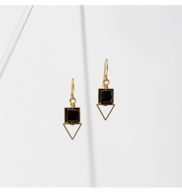 PIQUE EARRINGS IN BLACK ONYX