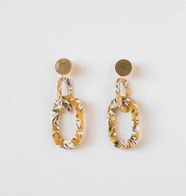 Acrylic Link Earrings in Sunshine Mix
