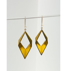 Open Brass Earrings in Gold